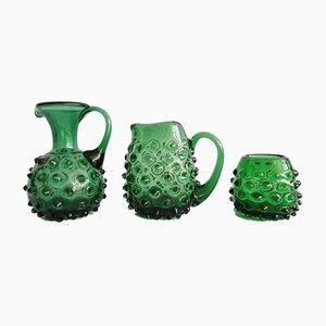 Brocche in vetro di Murano, anni '60, set di 3