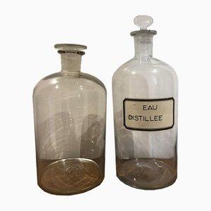 Pharmacy Bottles, 1950s, Set of 2