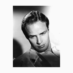 Marlon Brando Portrait Shoot Archival Pigment Print Framed in White by Everett Collection