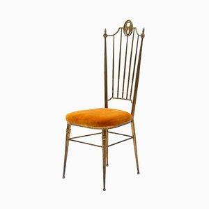 Mid-Century Brass Dining Chair by Giuseppe Gaetano Descalzi