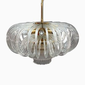 Crystal Glass Chandelier from Bakalowits & Söhne, Vienna, 1970s