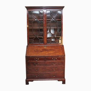 18th-Century Mahogany Bureau Bookcase