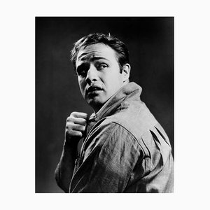 Marlon Brando on the Waterfront Archival Pigment Print Framed in White by Everett Collection