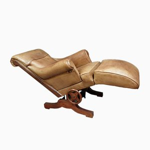 Lounge Chair with Removable Footrest by Charlotte Perriand, 1940s