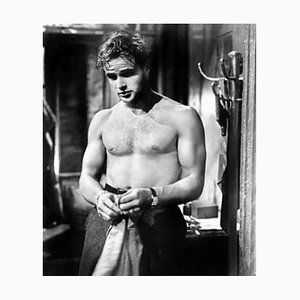 Shirtless Brando Archival Pigment Print Framed in Black by Everett Collection