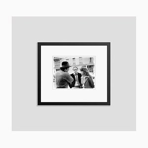 On the Set of Last Tango in Paris Archival Pigment Print Framed in Black by Everett Collection