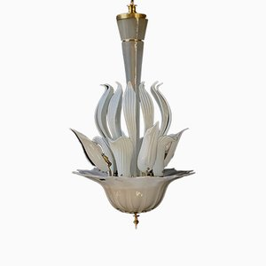 Mid-Century Chandelier Attributed to Vistosi, 1950s