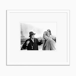 Marlon Brando on Location in Paris Archival Pigment Print Framed in White by Everett Collection