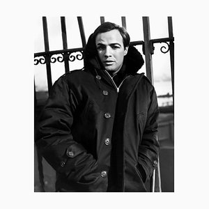 Brando on the Waterfront Archival Pigment Print Framed in Black by Everett Collection
