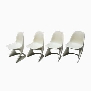Stackable Plastic Chairs by Alexander Begge for Casala, 1974, Set of 4