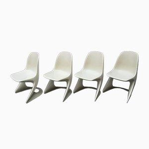 Stapelbare Kunststoff Stühle von Alexander Begge für Casala, 1974, 4er Set