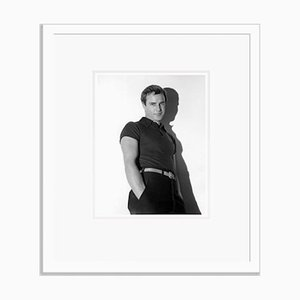 Marlon Brando Fashion Shoot Archival Pigment Print Framed in White by Everett Collection
