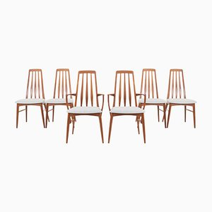 Eva Dining Chairs by Niels Koefoed for Koefoeds Hornslet, 1960s, Set of 6