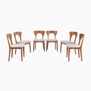 Peter Dining Chairs by Niels Koefoed for Koefoeds Hornslet, 1960s, Set of 6