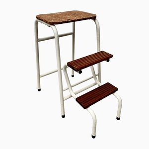 Vintage Folding Step Stool in Metal
