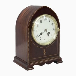 French Belle Epoque Mahogany Mantel Clock, 1900s