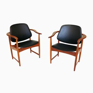 Lounge Chairs by Arne Hovmand-Olsen for Onsild Møbelfabrik, 1960s, Set of 2