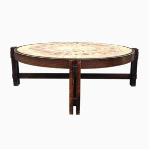 Wild Herbarium Coffee Table by Roger Capron, 1960s
