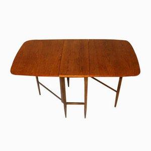 Tavolo da pranzo in teak con ali, anni '60