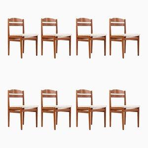 Danish Teak Dining Chairs, 1960s, Set of 8
