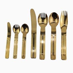 24 K vergoldetes Culinariales Besteck von Carl Auböck für Collini, 1970er, 7er Set