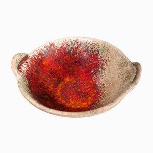 Keramik Schale von Friedgard Glatzle für Karlsruher Majolika, 1972