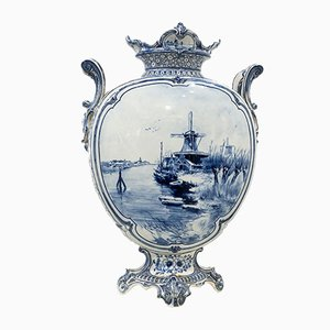 18th Century Dutch Royal Delft Blue Vase