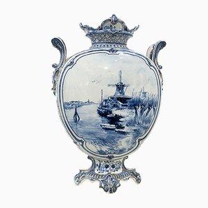 Niederländische Royal Delft Blue Vase, 18. Jh