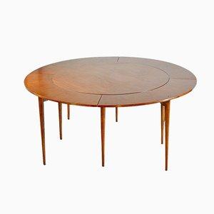 Tavolo da pranzo Flip Flap di Dyrlund, anni '60