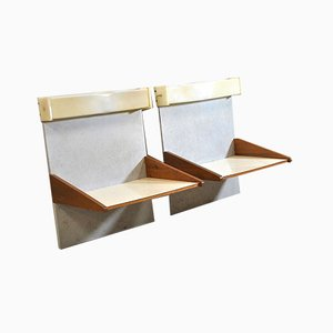 Wooden Shelves, 1960s, Set of 2