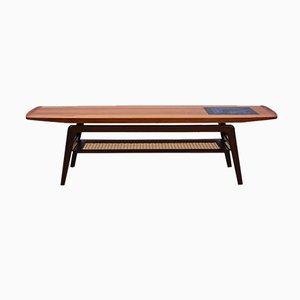 Table Basse en Teck et Mosaïque par Arne Hovmand-Olsen pour Mogens Kold, Danemark, 1960s
