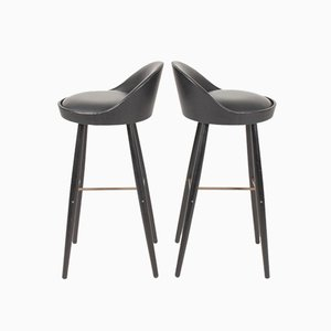 Bar Stools from Niels Vodder, 1950s, Set of 2