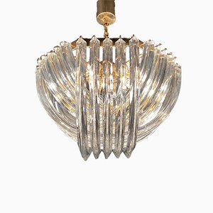 Sculptural Murano Curved Chandelier from Venini