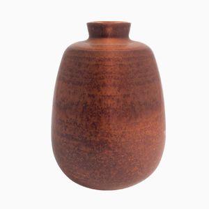 Brown Ceramic Vase from Saxbo