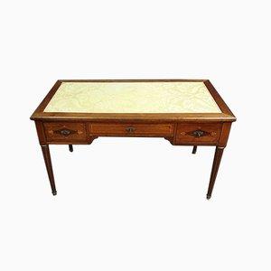 Secreter Louis XVI de caoba con incrustaciones de madera