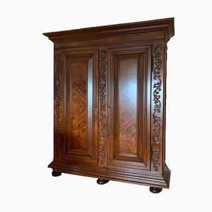 Antique Baroque Cabinet in Solid Wood