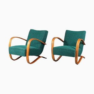 Czech Lounge Chairs by Jindrich Halabala for Up Zavody, 1930s, Set of 2