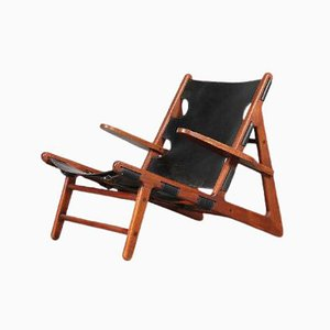 Danish Hunting Lounge Chair by Borge Mogensen for Fredericia, 1960s