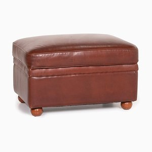 Cognac Leather Stool from Poltrona Frau