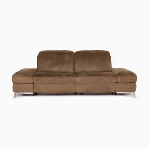 Olive Green Fabric Inca Alcantara Electric 2-Seat Sofa from Himolla