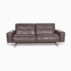 Grey Leather 50 2-Seat Sofa from Rolf Benz