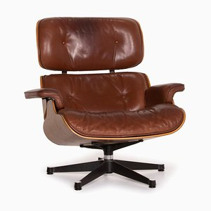 Cognac Leather Lounge Chair by Charles & Ray Eames for Vitra