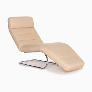 Cream Leather Cantilever Chair from Ewald Schillig