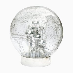 Large Smoked Bubble Glass Globe Table or Floor Lamp from Doria Leuchten, 1970s