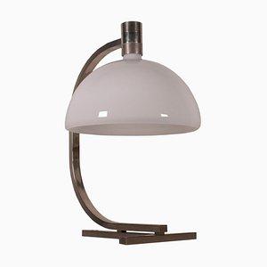Metall & Glas Tischlampe von Franco Albini & Franca Helg für Sirrah, 1960er
