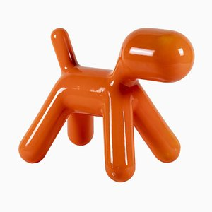 Orange Polyethylene Puppy Sculpture by Eero Aarnio, 2005