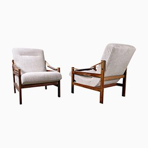 Brazilian Armchairs in Style of Sergio Rodrigues, 1960s, Set of 2