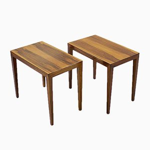 Mid-Century Rosewood Side Tables, 1950s, Set of 2