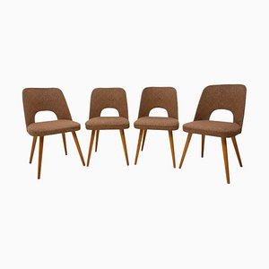 Mid-Century Czech Dining Chairs by Radomír Hofman for Thonet, 1960s, Set of 4