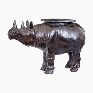 Cast Bronze Rhino Occasional Table, 1920s